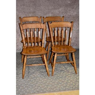 1940s Vintage Ethan Allen Early American Style Dining Chairs- Set of 4 Preview