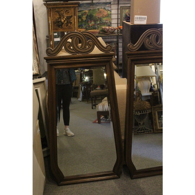 Art Nouveau Style Wall Mirrors - a Pair For Sale - Image 4 of 6
