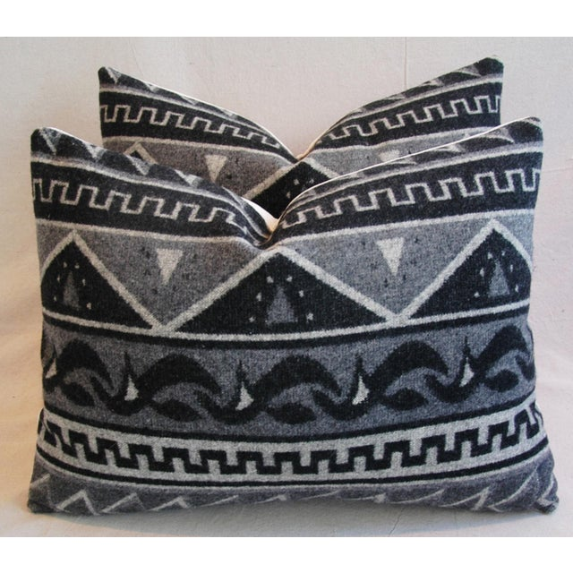 1950s Trading Camp Wool Blanket Pillows - A Pair - Image 7 of 11