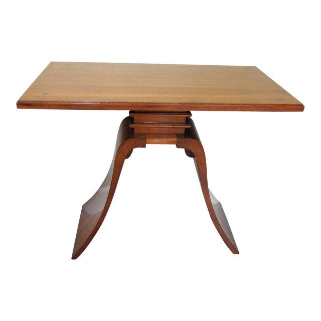 Art Deco Paul Frankl Bell Side Table For Sale
