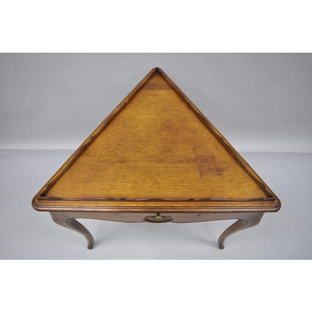 Country French Louis Triangle Side Table For Sale In Philadelphia - Image 6 of 10