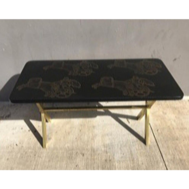 Piero Fornasetti Bighe Neoclassical Coffee Table sold as found in vintage condition without damage.