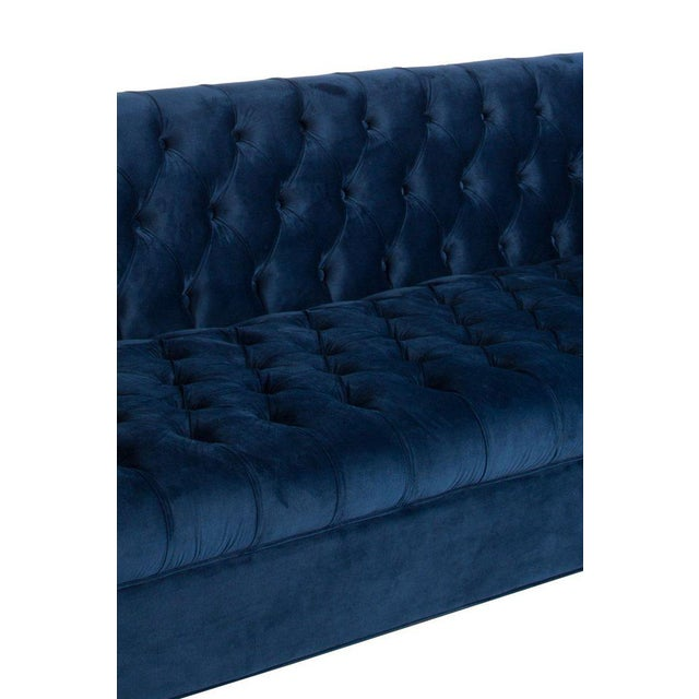 Statements by J Harper Tufted Navy Blue Sofa For Sale - Image 4 of 5