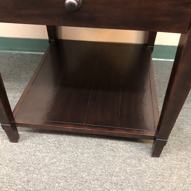 Brown Vintage Patina Tray Table by Bernhardt Furniture Company For Sale - Image 8 of 10