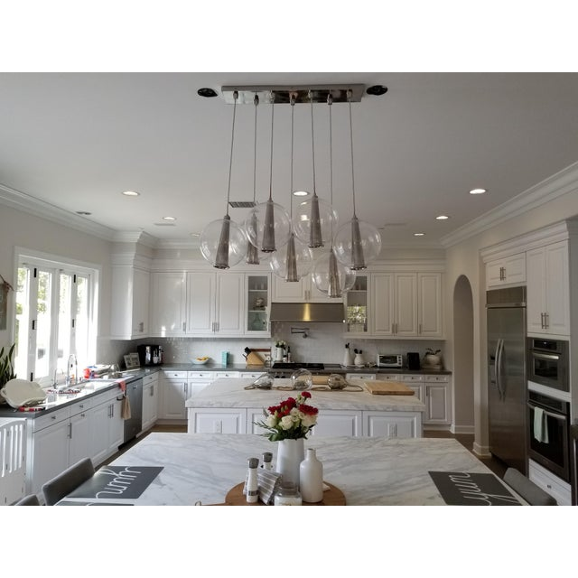 Arteriors Caviar Linear Suspension Pendant Lighting For Sale In San Diego - Image 6 of 7