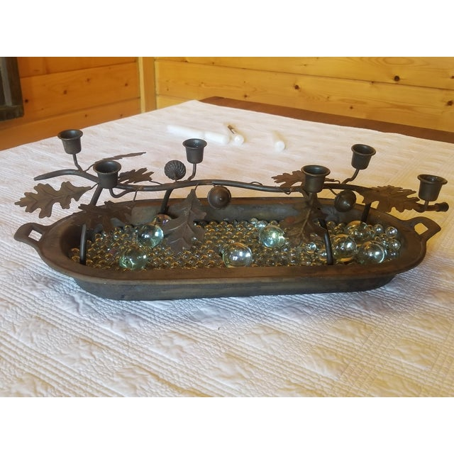 Antique Cast Iron Decorative Candle Holder, 1860s-1880s For Sale - Image 11 of 11