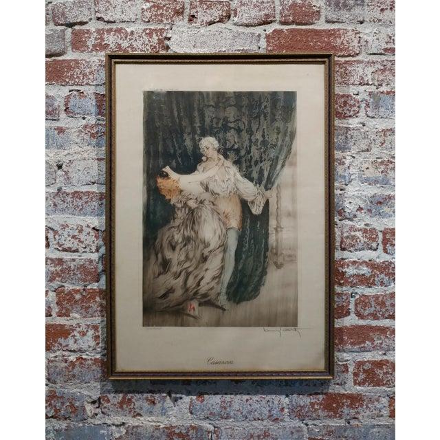 Louis Icart -Casanova - Original 1920s Lithograph -Pencil Signed - Image 11 of 11