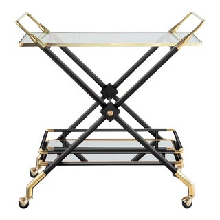 Hudson Bar Cart in Noir For Sale