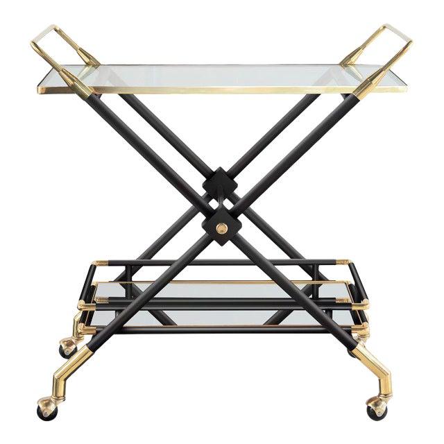 Hudson Bar Cart in Noir For Sale