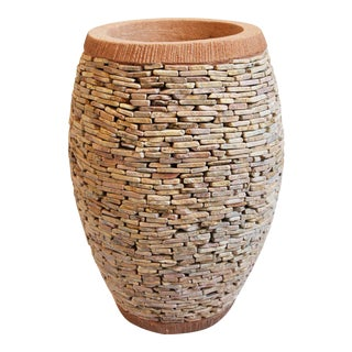 Peach Pebble Stacked Planter