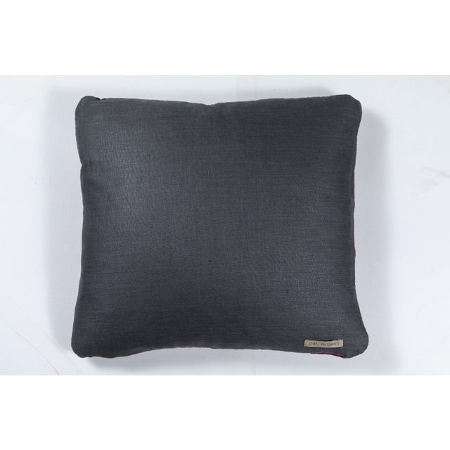 Indian Banjara Embroidered Pillow For Sale - Image 4 of 5