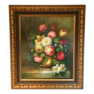 Still Life of Flowers Oil Painting