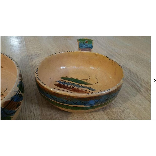 Mid 20th Century 20th Century Mexican Tlaquepaque Nesting Chili Bowls - Set of 4 For Sale - Image 5 of 9