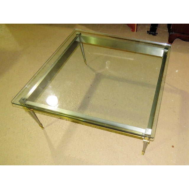 Chrome Mid 20th Century Vintage John Vesey Style Coffee Table For Sale - Image 8 of 11