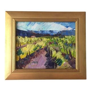 """California Vineyard"" Oil Painting"
