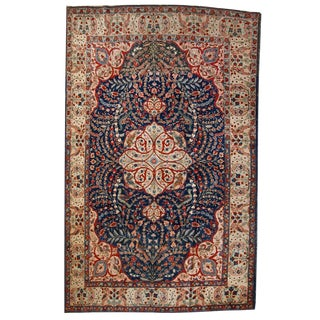 1920s Antique Persian Tabriz Rug- 6′4″ × 10′2″ For Sale