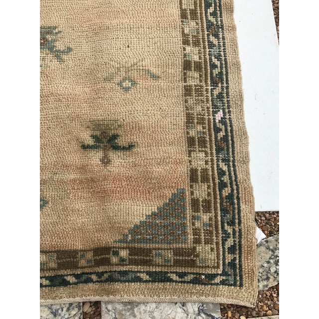 """Hand Made Vintage Turkish Area Rug- 3'3""""x4'2' For Sale - Image 4 of 10"""