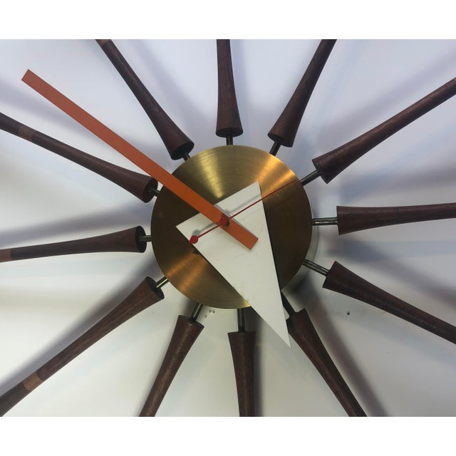 Mid-Century Modern George Nelson & Associates Spool Wall Clock Model 2239 For Sale - Image 3 of 8