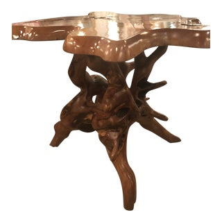 Vintage Mid-Century Modern Freeform Cypress Tree Root Trunk Dining Center Table Base For Sale