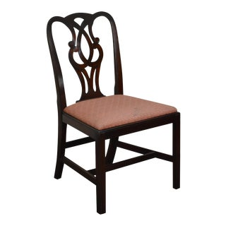 Baker 1940s Mahogany Chippendale Style Side Chair For Sale