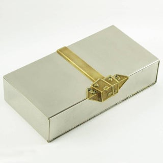 1960s Stainless Steel and Brass Decorative Box Preview