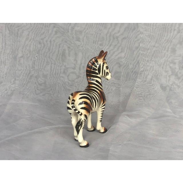 Mid-Century Modern Fern Importation Ceramic Zebra Figurine For Sale - Image 9 of 12