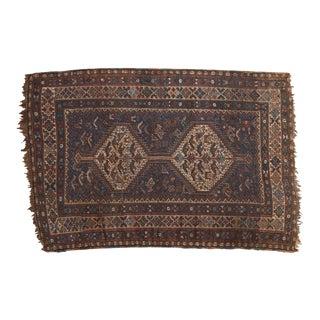 "Vintage Qashqai Rug - 3'8"" x 5'6"" For Sale"