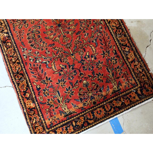 1900s, Handmade Antique Persian Sarouk Runner 3.2' X 7.10' For Sale - Image 9 of 12