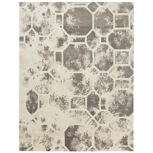Contemporary Earth Elements - Customizable Luna Rug (6x9) For Sale - Image 3 of 3