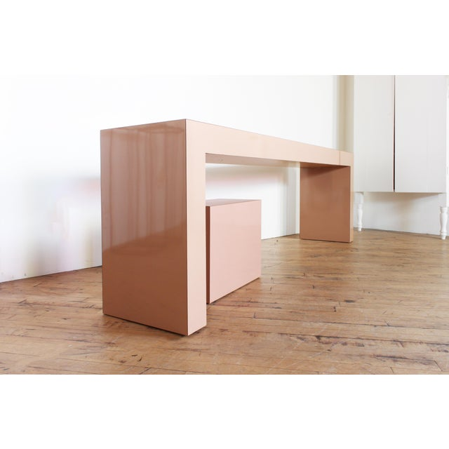Postmodern Post Modern Parson's Table- Laminate Console Table and Plinth For Sale - Image 3 of 5