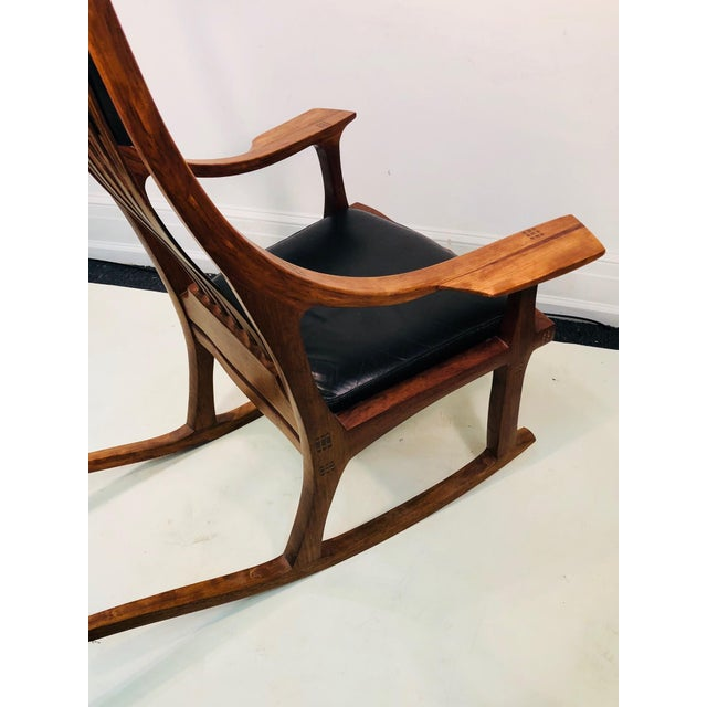 Mid-Century Modern Exceptional and Monumental Rosewood Rocking Chair by Stephen O'Donnell For Sale - Image 3 of 11