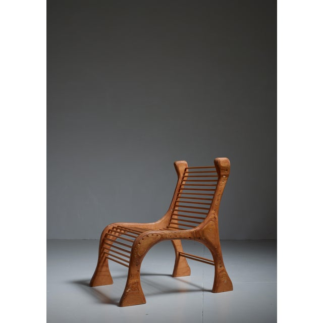 Robert Dice Rare Studio Crafted Chair with Dowel Seating, USA, 1970s - Image 4 of 4