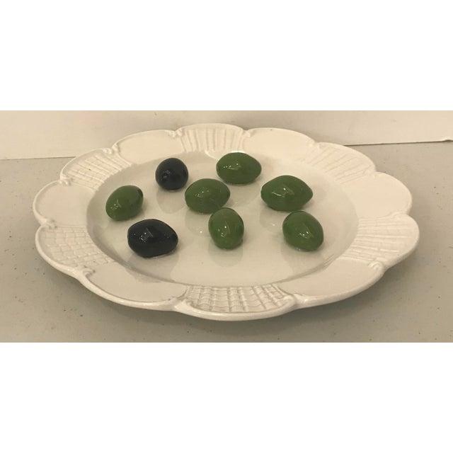 Italian Este Trompe L'Oeil Olive Plate For Sale - Image 10 of 10