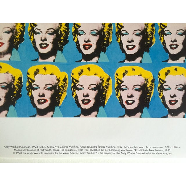 """Paper Andy Warhol Foundation Rare 1993 Lithograph Print """"Twenty Five Marilyns"""" 1962 For Sale - Image 7 of 10"""