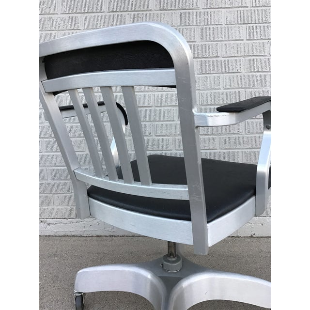 Vintage Emeco Rolling Office Chair For Sale - Image 10 of 13