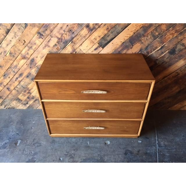 Mid-Century Modern Heritage Mid-Century Refinished Walnut Dresser For Sale - Image 3 of 9