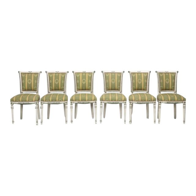 Wondrous French Directoire Old Paint Set Dining Chairs Pabps2019 Chair Design Images Pabps2019Com