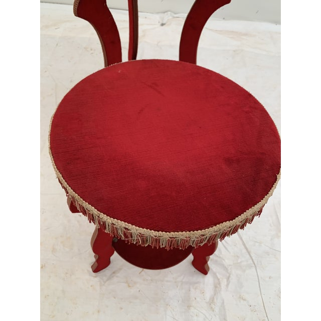 1970s Hollywood Regency Red Fringe Tables - a Pair For Sale - Image 4 of 8