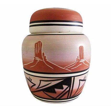 Navajo Pottery Desert Range Jar For Sale