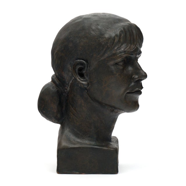 Gold French Terracotta Bust For Sale - Image 8 of 10