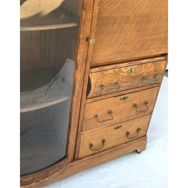 Vintage Wooden Vanity With Storage and Secretary Desk For Sale - Image 12 of 13