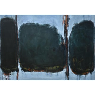 Stephen Remick Large Abstract Painting. 'All the Leaves Are Brown'