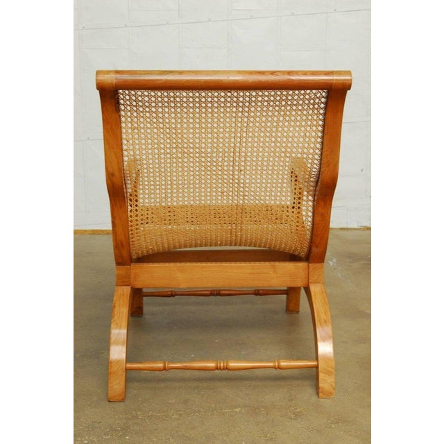 Anglo-Indian Teak and Cane Plantation Chair For Sale - Image 10 of 13