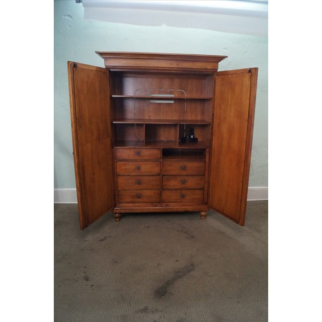 Tommy Bahama Lexington Maple Louvered Door Armoire For Sale - Image 5 of 10