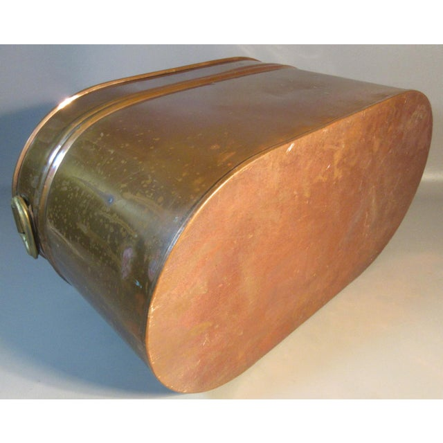 Vintage Copper Lined Copper Boiler Wash Tub For Sale - Image 4 of 6