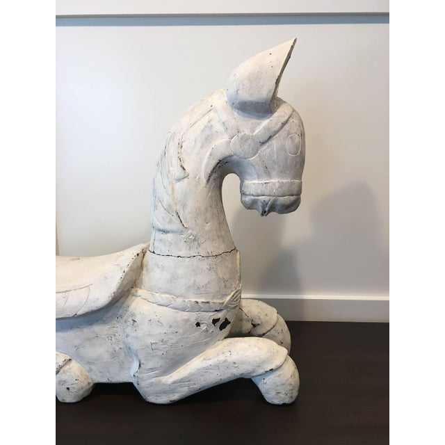 White 20th Century Folk Art Horse Sculpture For Sale - Image 8 of 11