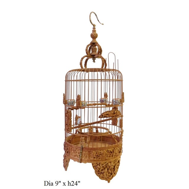 Bamboo Warfield Carving Birdcage - Image 8 of 10