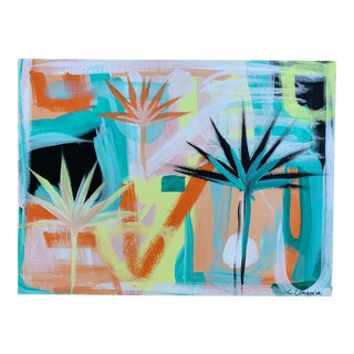 "Christina Longoria ""Palm Fronds #3"" Contemporary Painting For Sale"