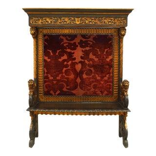Italian Renaissance Paneled Hall Bench For Sale