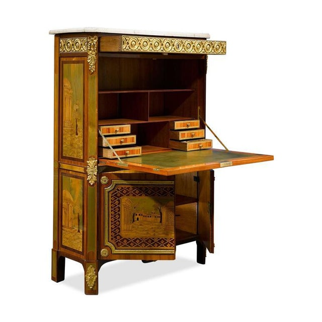Ornate Secretary by André Gilbert For Sale - Image 4 of 10